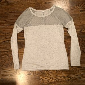 Lorna Jane Long Sleeve Top Gray with Mesh Small S